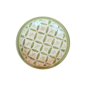 Spring Green Fez Salad Plate