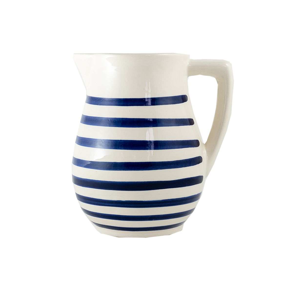 Cobalt Stripe Pitcher