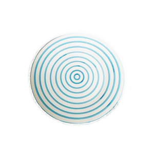 Turquoise Stripe Side Plate