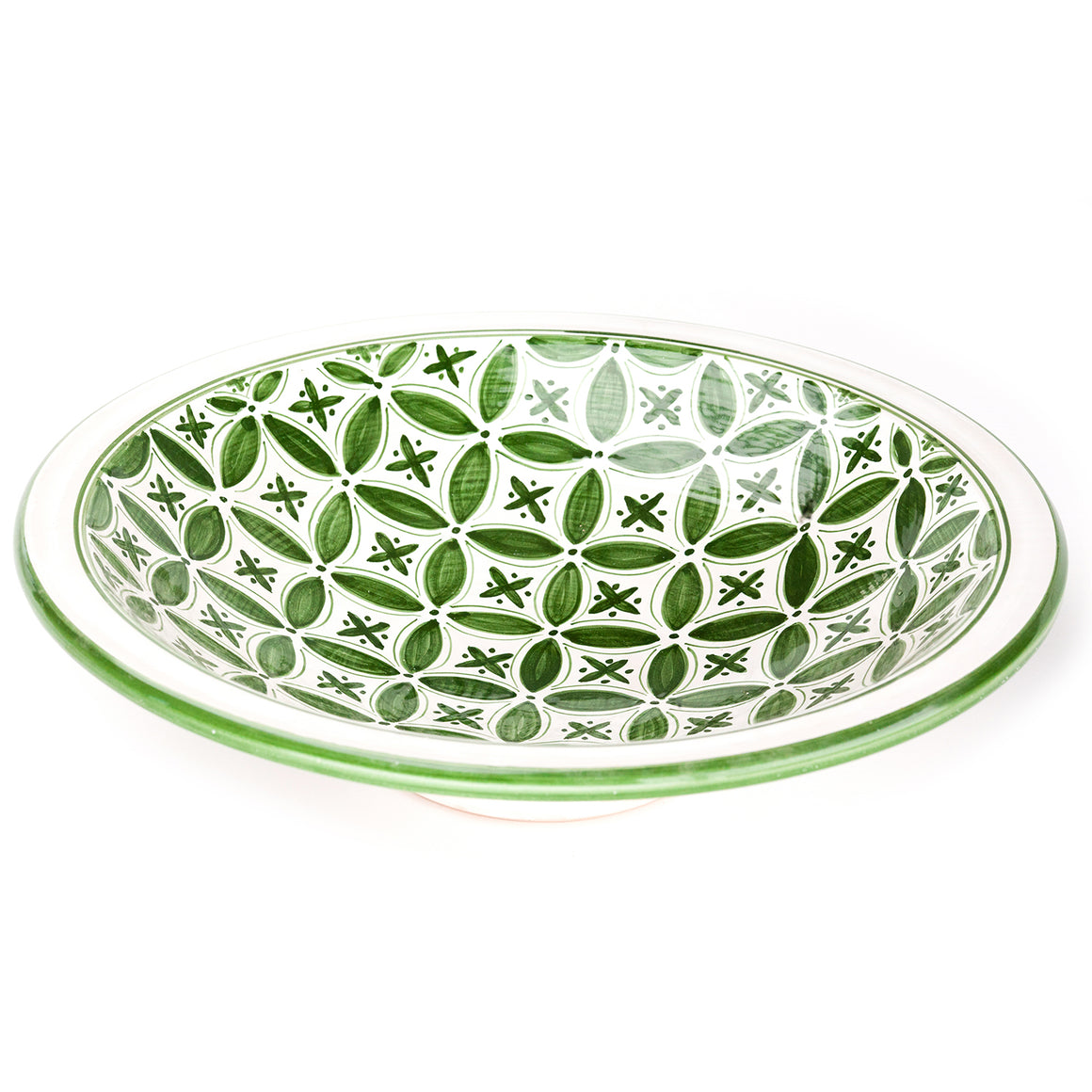 Green Fez Large Serve Bowl