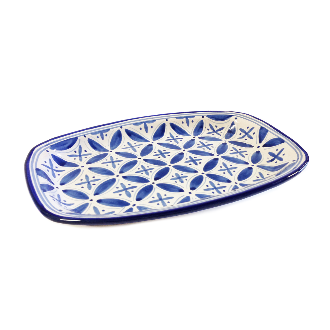 Blue Fez Rectangle Platter