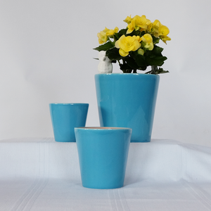 Turquoise Flower Pots