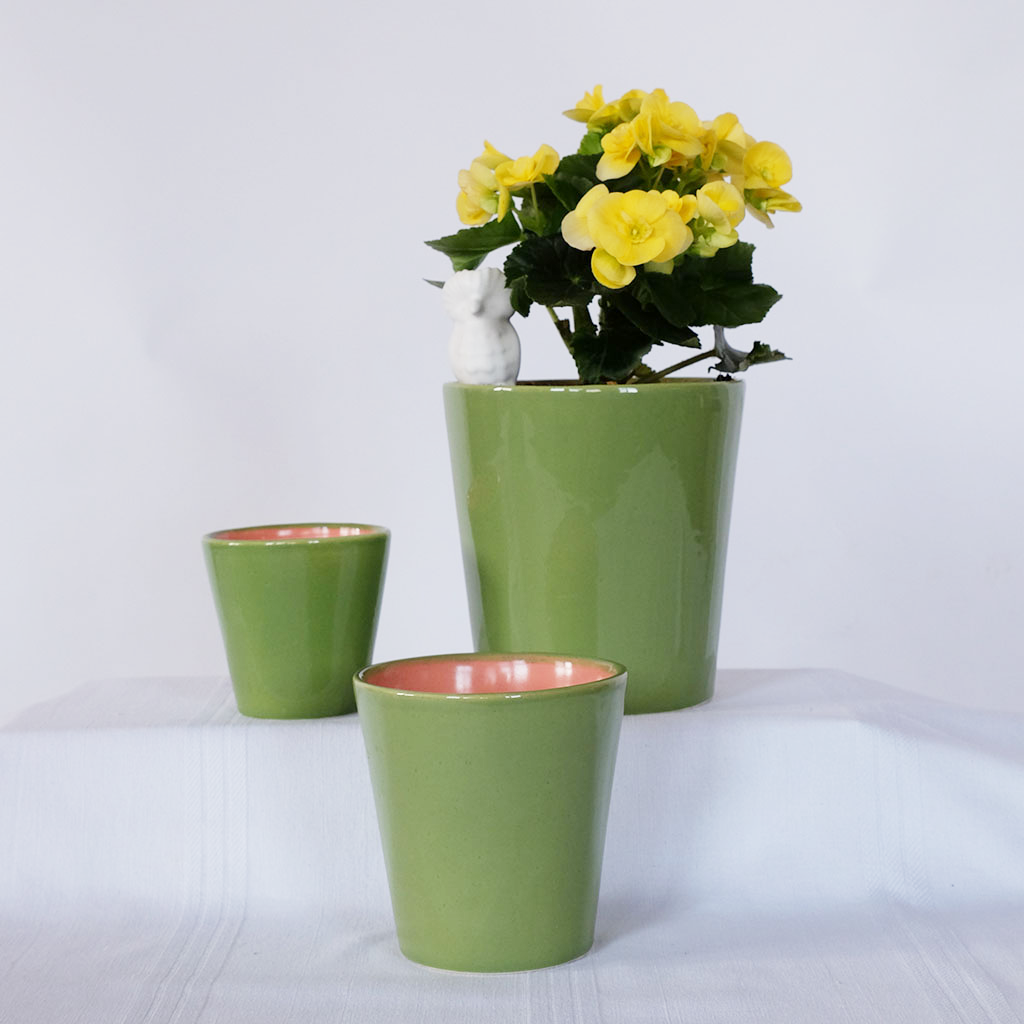 Spring Green Nested Pots