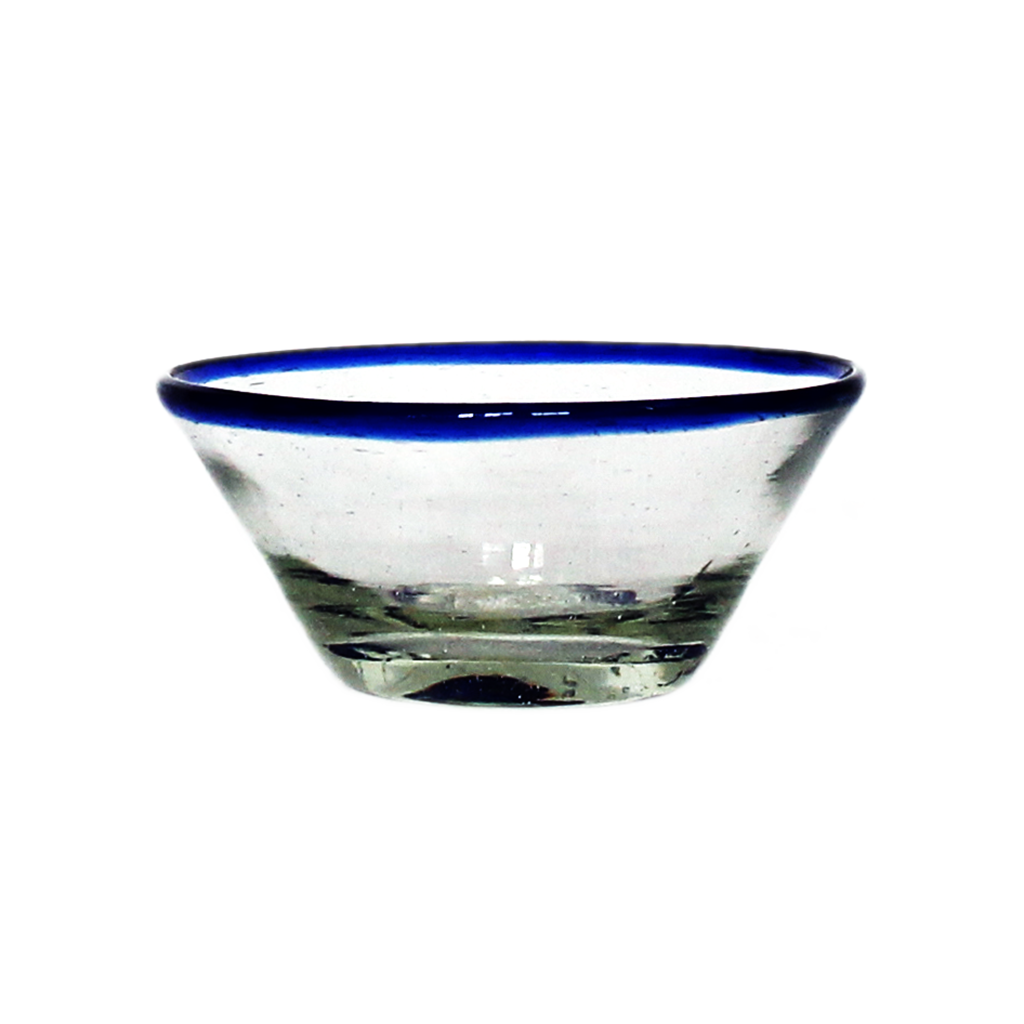 Blue rim tiny bowl