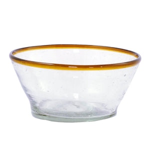 Amber Rim Glass Small Bowl