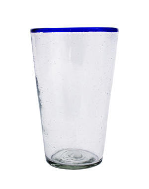 Blue Rim Iced Tea Glass