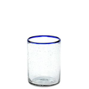 Blue Rim Juice Glass