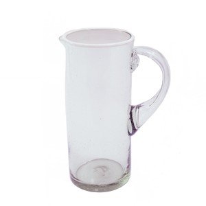 White Rim Cylinder Pitcher