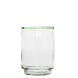 Med Green Rim Stacking Glass