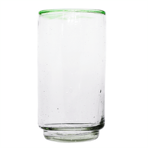 Large Green Rim Stacking Glass