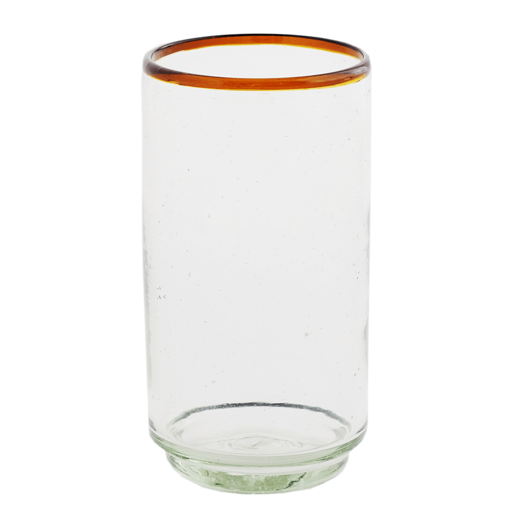 Large Amber Rim Stacking Glass