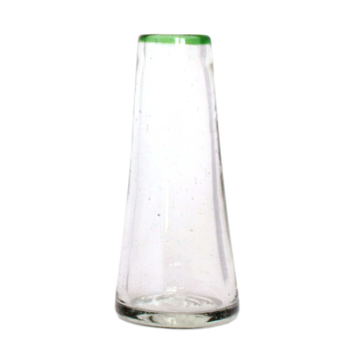 Small Green Rim Conical Vase