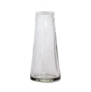 Small White Rim Conical Vase