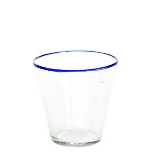 Blue Rim Water Glass