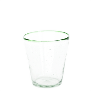 Green Rim Water Glass