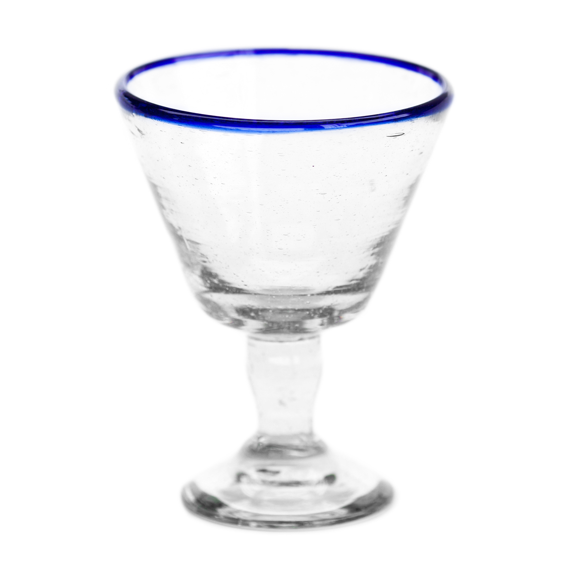 Blue Rim Wine Glass