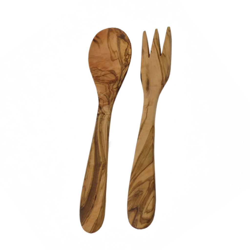Olive Wood Classic Salad Servers