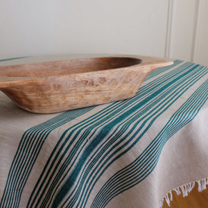 Wheat with pine stripes tablecloth