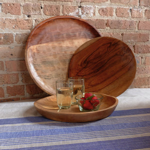 "14"" Shallow Wood Bowl"
