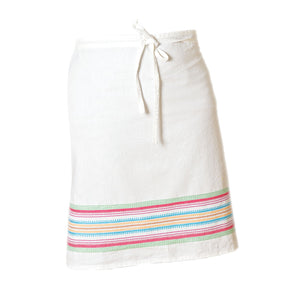 Multi stripe chef apron