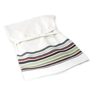 Neutral stripe chef apron