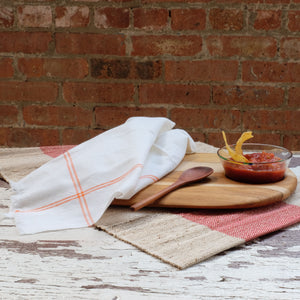 Oversize Orange Classic Stripe Napkin