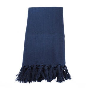 Solid Indigo Napkin with Fringe