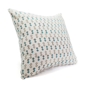 Blue Diamond Silk Pillow Cover