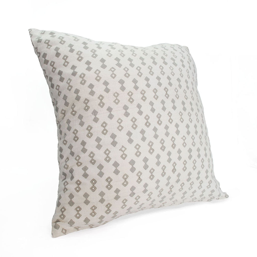 Grey Diamond Silk Pillow Cover Sobremesa By Greenheart