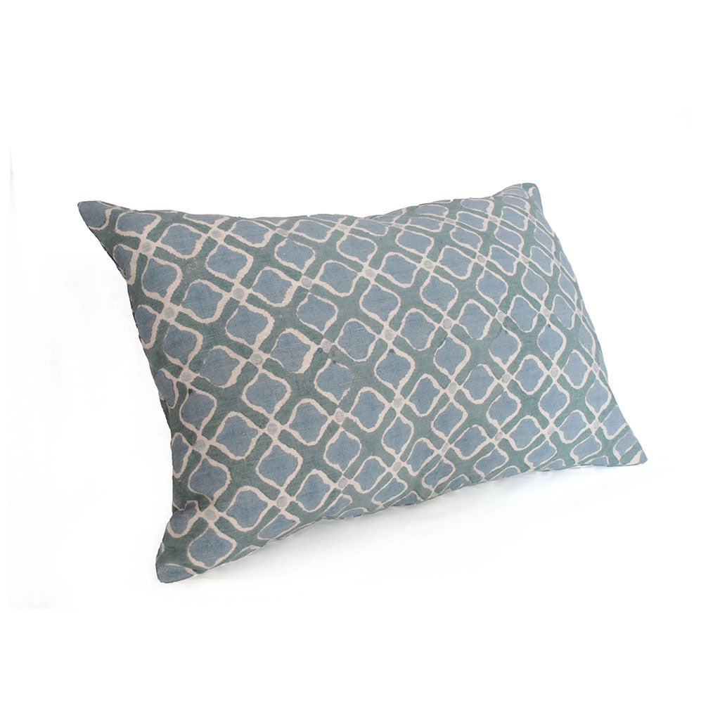 Blue Petal Silk Pillow Cover