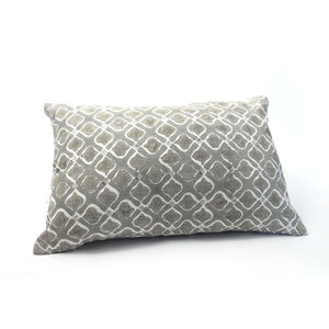Grey Petal Silk Pillow Cover