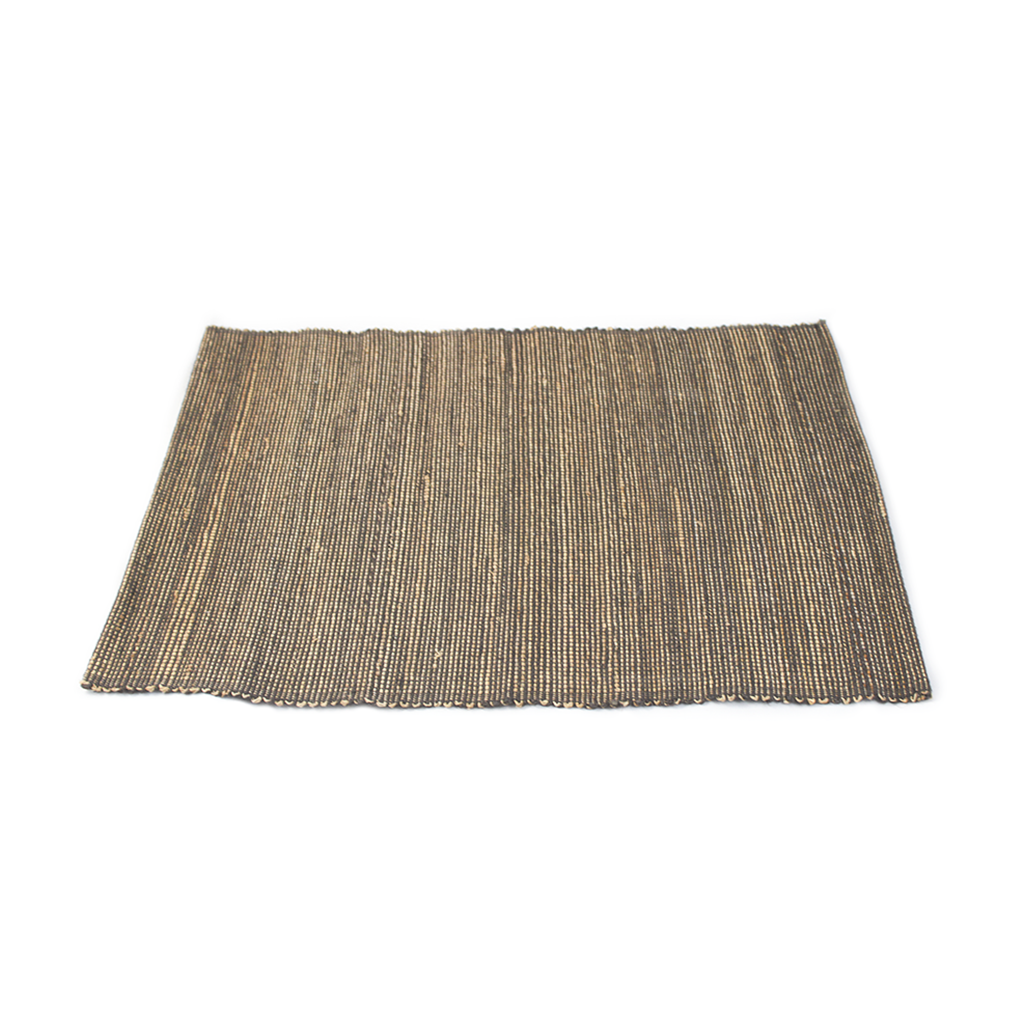 Grey Solid Jute Placemat