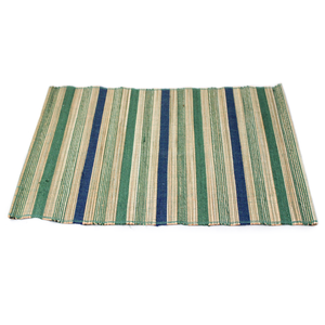 Blue/Green Multi Stripe Jute Placemat