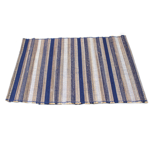Blue/White Multi Stripe Jute Placemat