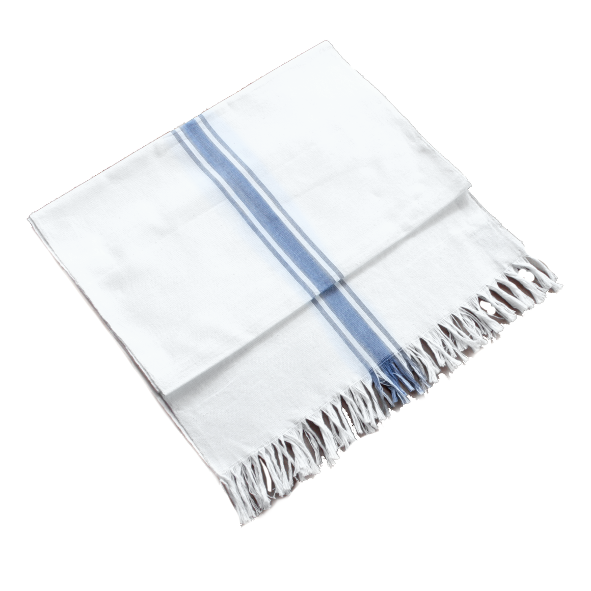 White with Blue Stripes Runner