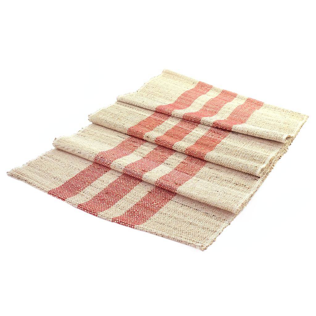 Red Stripe Jute Runner