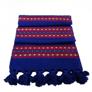 Blue thick stripe Florecitas runner