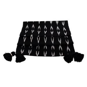 Serpentina black & white runner