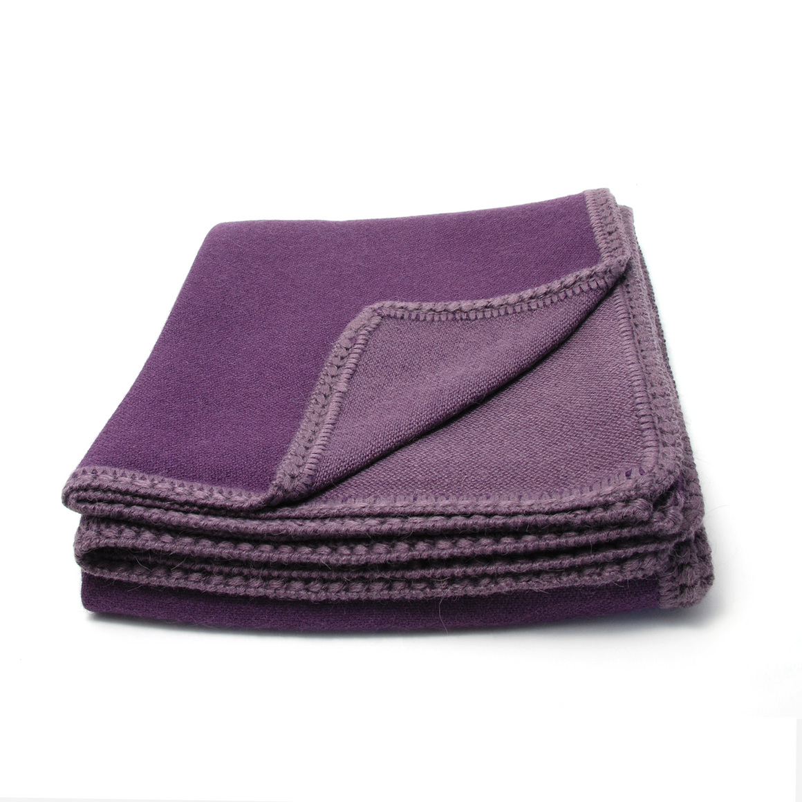 Plum reversible alpaca throw