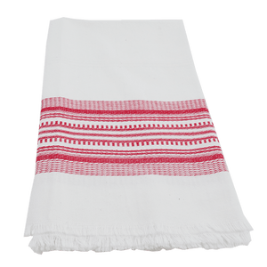 Red Antigua Stripe Towel