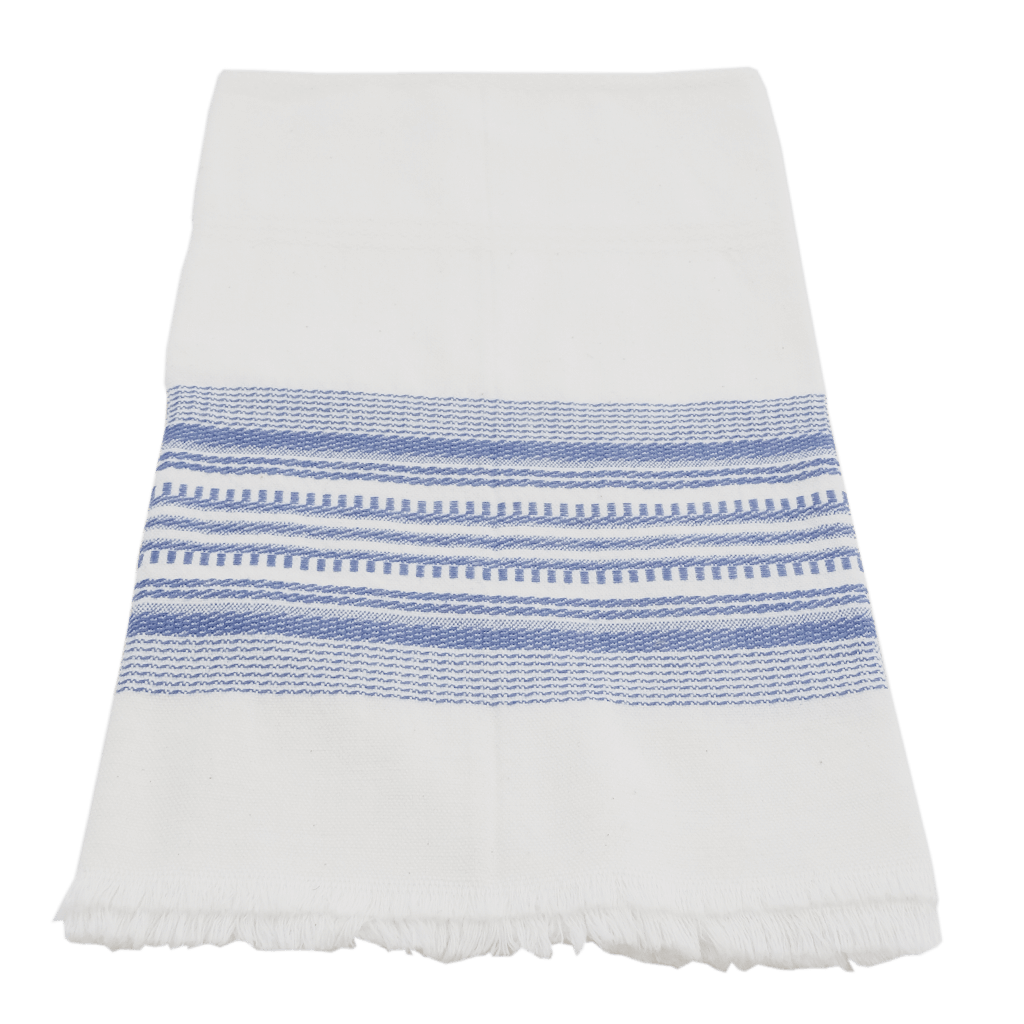 Blue Antigua stripe towel