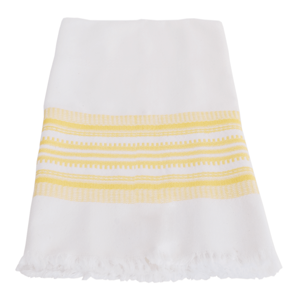Yellow Antigua stripe towel