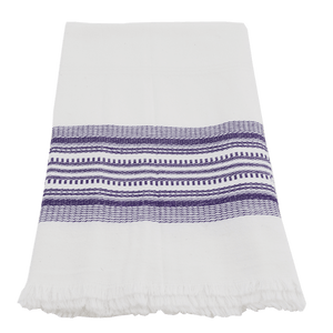 Purple Antigua Stripe Towel