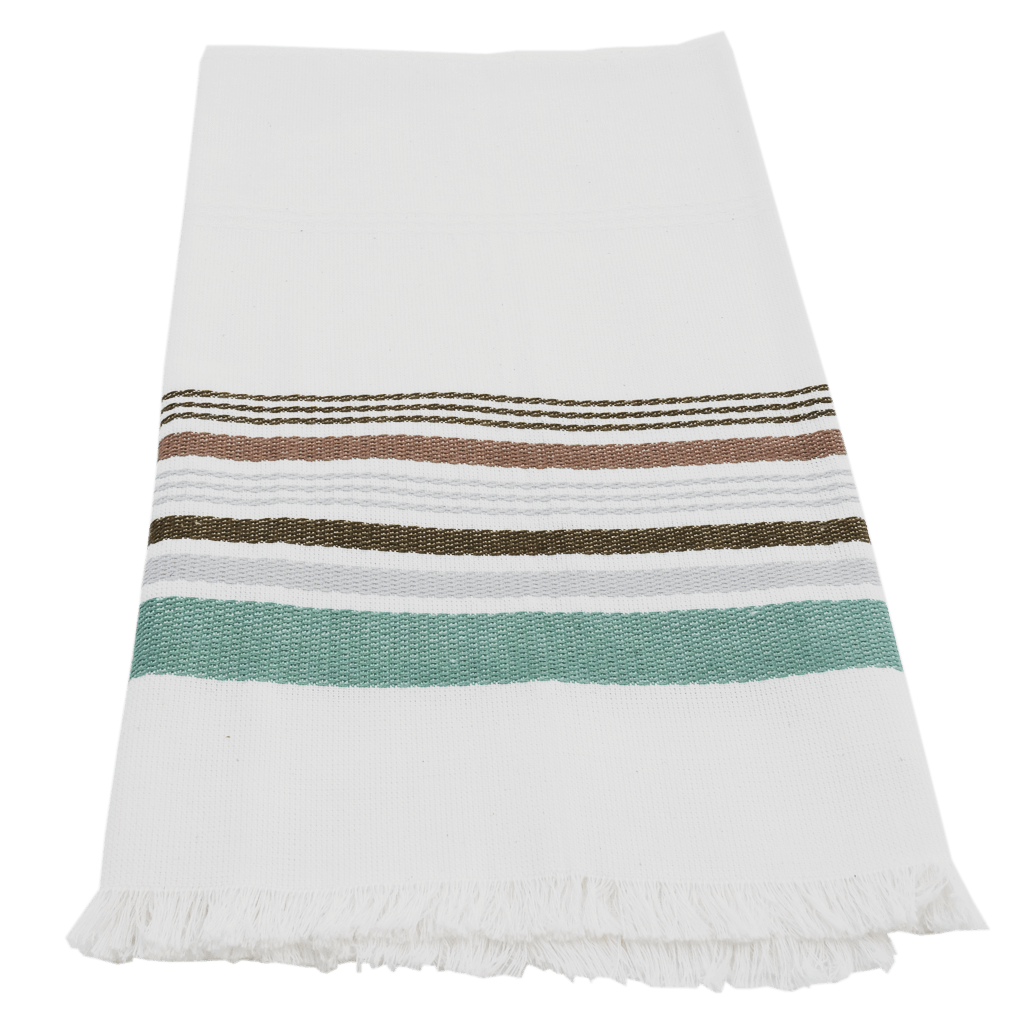 Jade Neutral Stripe Antigua Towel