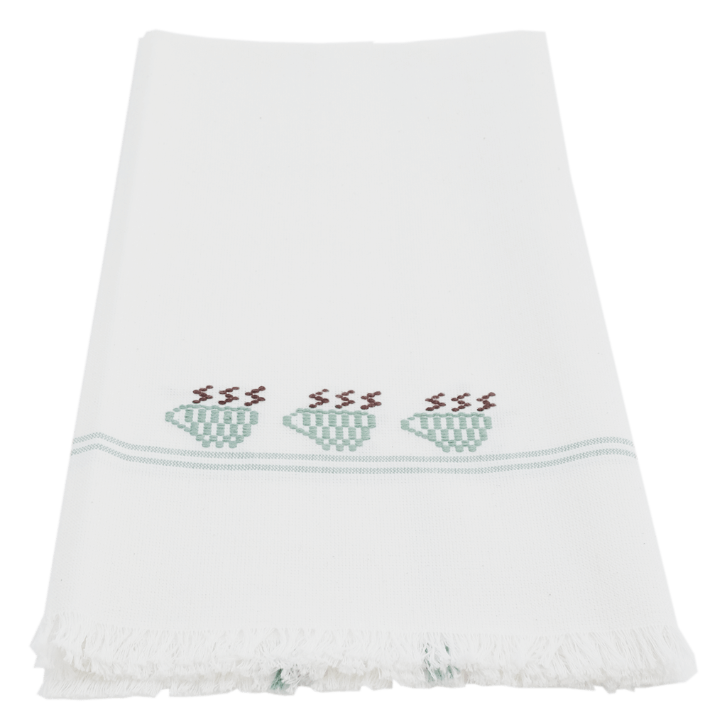 Jade 3 Teacups Towel