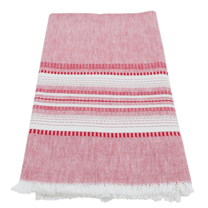 Red Chambray Towel