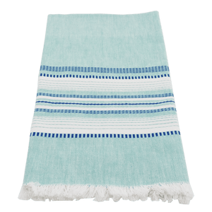 Teal with Blue Chambray Towel