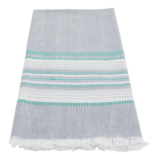 Slate/teal chambray towel