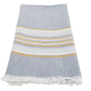 Slate with Gold Chambray Towel