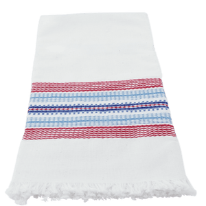 Red and Blue with White Stripe Towel